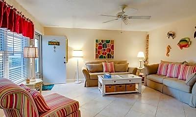 Living Room, 5400 Florida A1A C6, 1