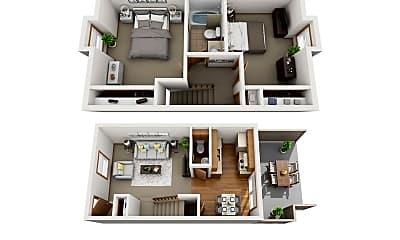 Living Room, 1540 W 54th St, 2