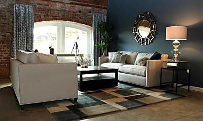 Living Room, The Apartments at Palmetto Compress, 2