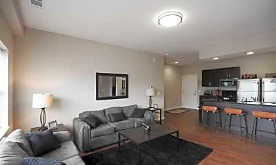 Living Room, Maywood II Apartments, 1