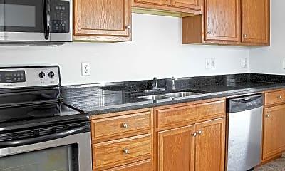 Kitchen, Green Street Apartments, 0