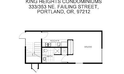 Living Room, 333 NE Failing St, 2