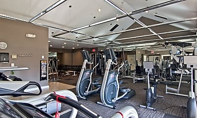 Fitness Weight Room, Sawmill Commons, 2