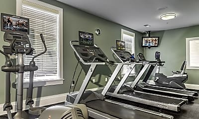 Fitness Weight Room, Wesley Village Apartments, 2