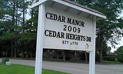 Cedar Manor, 1