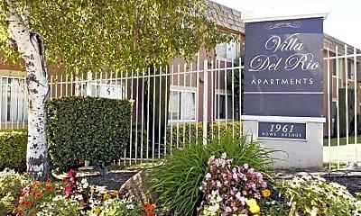 Community Signage, Villa Del Rio Apartments, 0