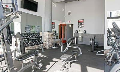 Fitness Weight Room, Motor Lofts, 1