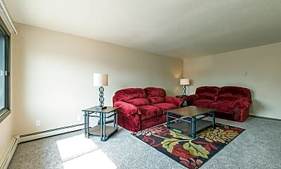 Living Room, Highland Meadows Apartments, 2