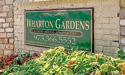 Community Signage, Wharton Garden Apartments, 1