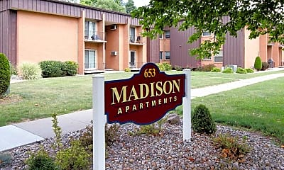 Community Signage, Madison Apartments, 1
