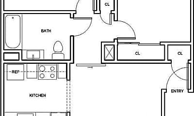Bathroom, 555 Elmira Rd, 2