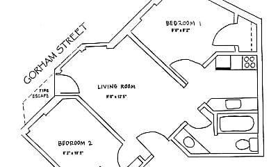 Bedroom, 407 State St, 2