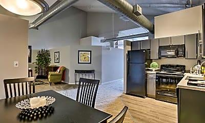 Kitchen, Park Lofts, 1