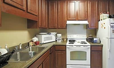 Kitchen, Russell School Apartments, 1