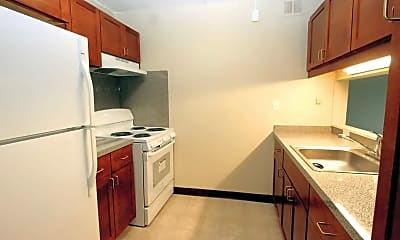 Kitchen, Wollaston Manor Senior Housing, 1