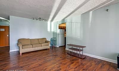 Living Room, 200 N Dearborn St 4208, 1