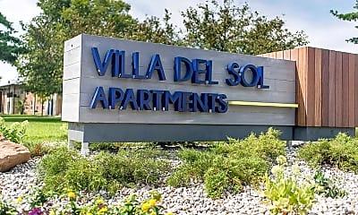 Community Signage, Villa Del Sol Apartments, 1