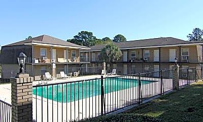 Pool, Edgewater Apartments, 2