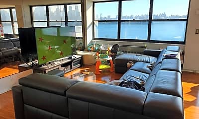 Living Room, 7004 Boulevard E 11L, 1