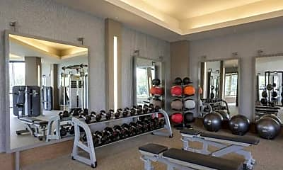 Fitness Weight Room, My Block Wash Park Apartments, 2