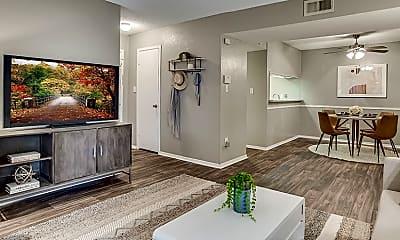 Living Room, Towne Oaks South, 1