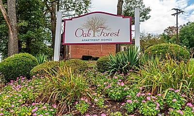 Community Signage, Oak Forest Apartments, 0