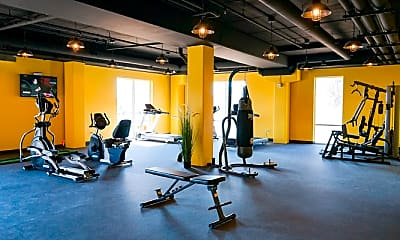 Fitness Weight Room, 7Penn Apartments, 1