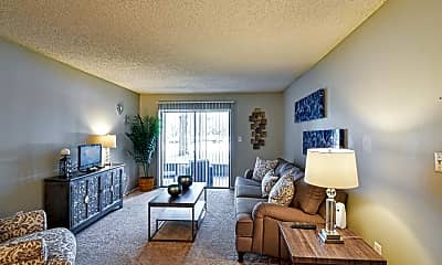 Living Room, Goldelm at Charter Pointe, 1