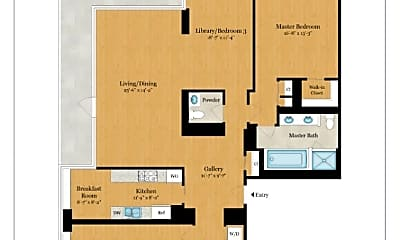 Living Room, 310 E 53rd St, 2