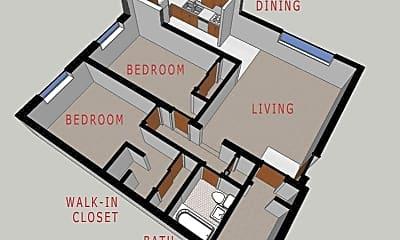 Bathroom, 945 N Ogden St, 2