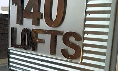 Community Signage, 140 Lofts, 2