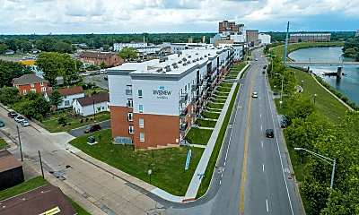 view of drone / aerial view, Riverview Apartments, 1
