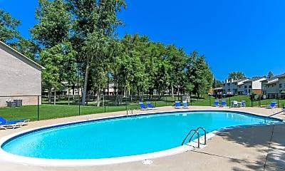 Pool, Briarwood Apartments, 2
