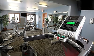 Fitness Weight Room, Creekwood Apartments, 2