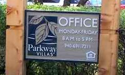 Community Signage, Parkway Villas, 2