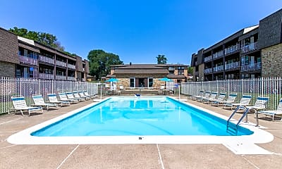 Pool, The Four Seasons Apartments, 1