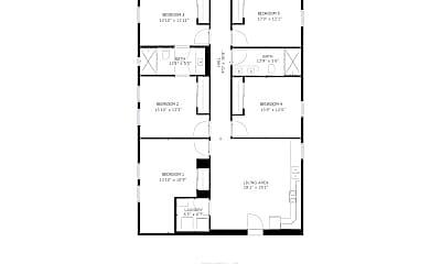 Bedroom, 130 S Soto St, 2