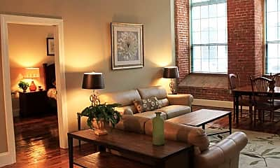 Living Room, Lofts at Pocasset Mill, 0