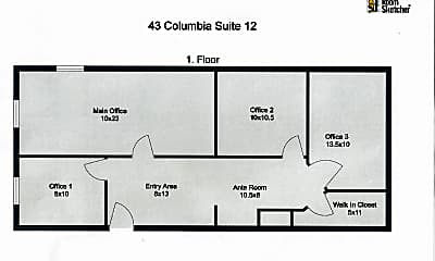 Bedroom, 43 Columbia St, 2