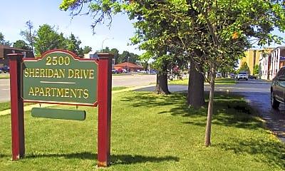 Community Signage, Sherdian Drive Apartments, 2