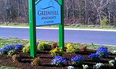 Community Signage, Green Hill Apartments at Radford, 1