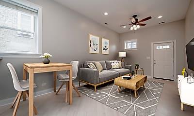 Living Room, 1428 W Walton St 2N, 1
