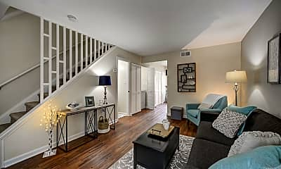 Living Room, Brookhill Townhouse Apartments, 1