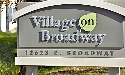 Community Signage, Village On Broadway, 2