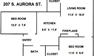 Building, 207 S Aurora St, 2