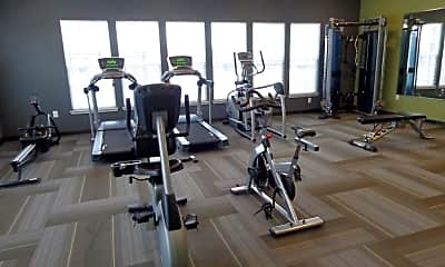Fitness Weight Room, Mosaic, 2