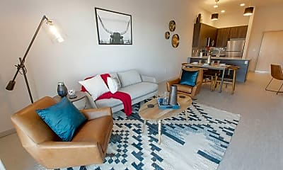 Living Room, Oxford Station Apartments, 2