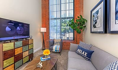 Living Room, Lofts At The Mills, 1