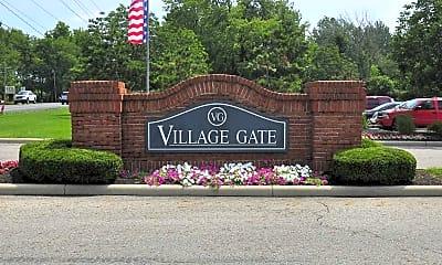Community Signage, Village Gate Apartments, 2