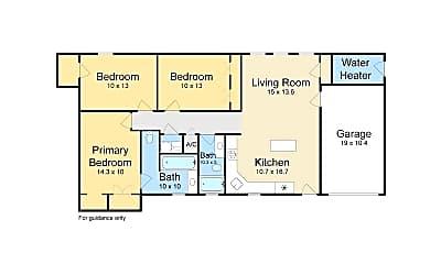 Bedroom, 4129 Coliseum St, 2